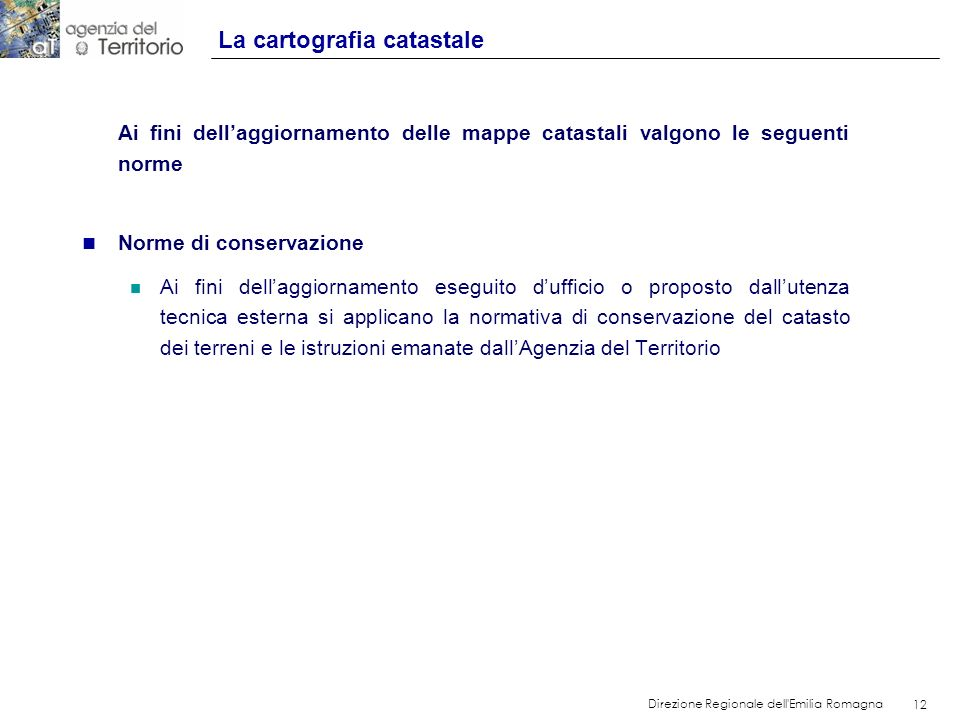 La cartografia catastale