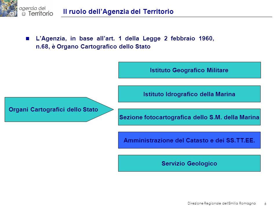 Il ruolo dell'Agenzia del Territorio