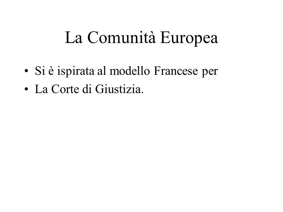 La Comunità Europea Si è ispirata al modello Francese per