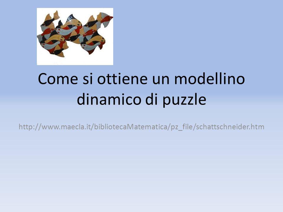 Come si ottiene un modellino dinamico di puzzle