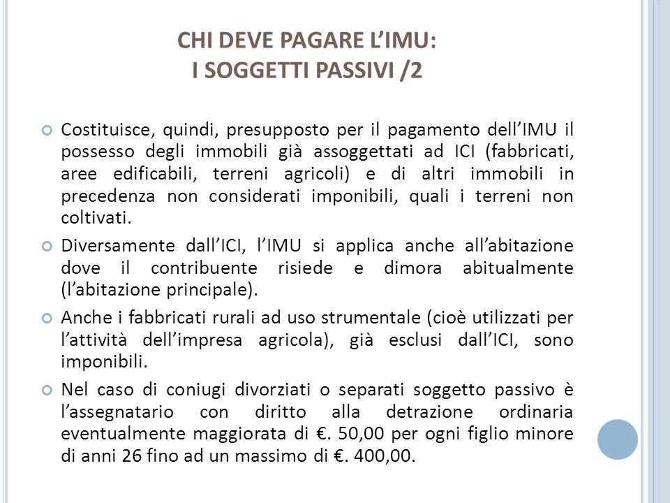 CHI DEVE PAGARE L'IMU: I SOGGETTI PASSIVI /2