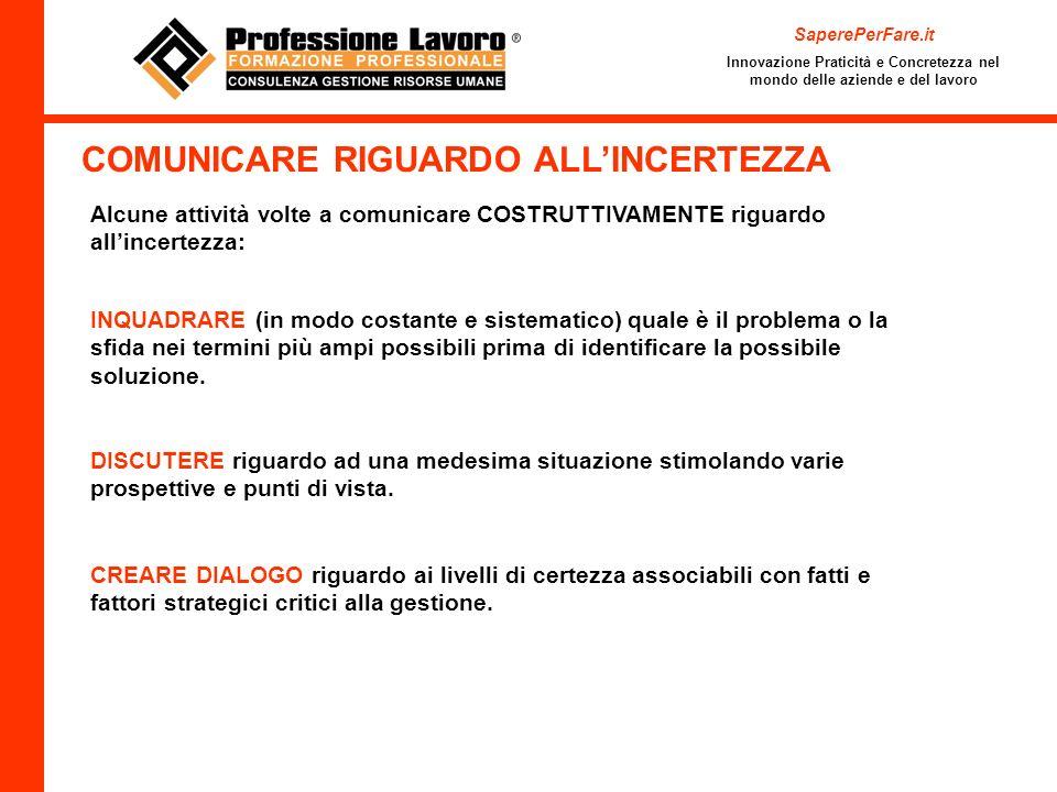 COMUNICARE RIGUARDO ALL'INCERTEZZA