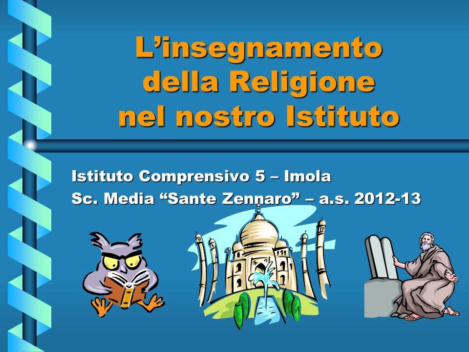L'insegnamento della Religione nel nostro Istituto