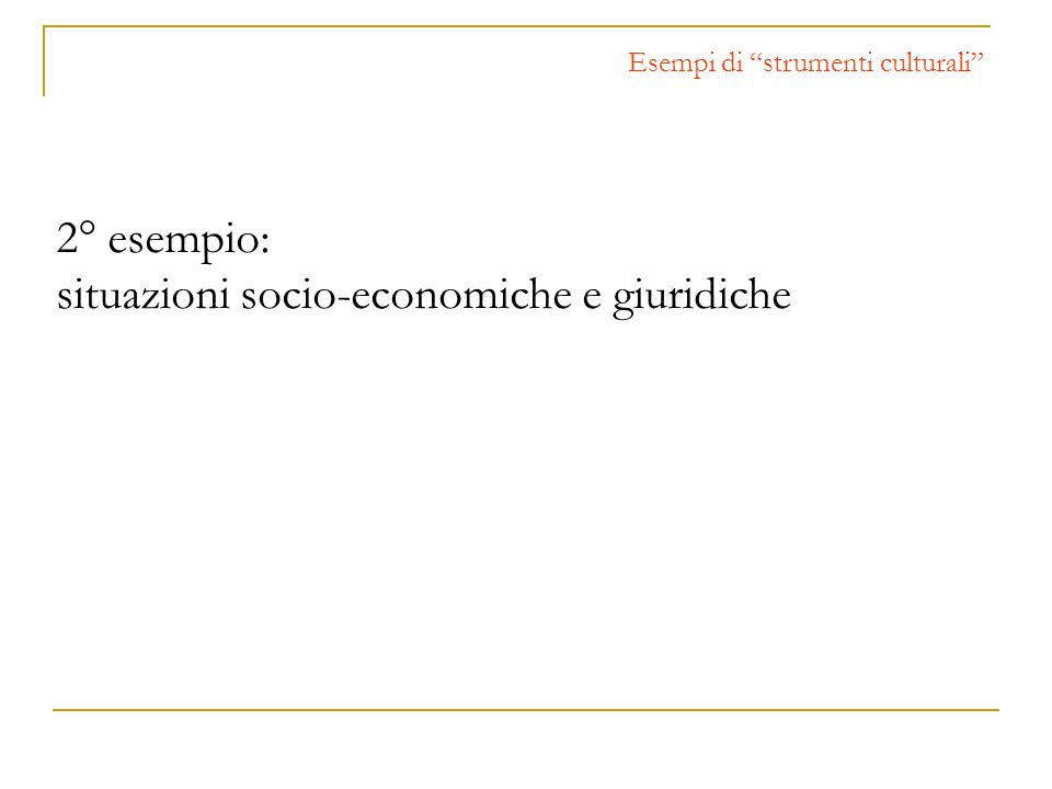 situazioni socio-economiche e giuridiche