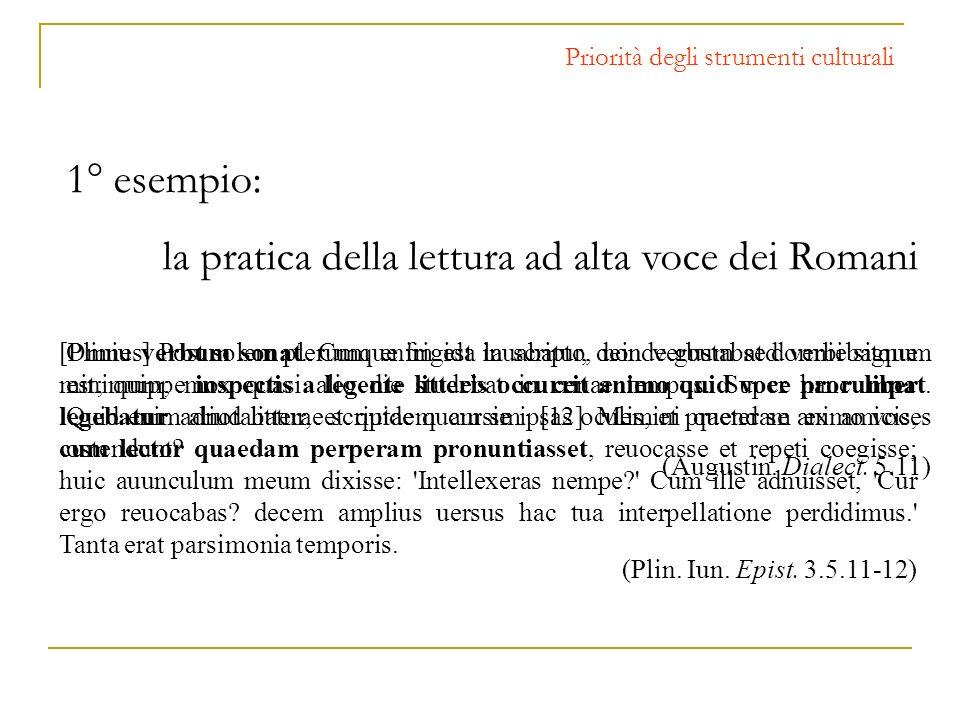 la pratica della lettura ad alta voce dei Romani
