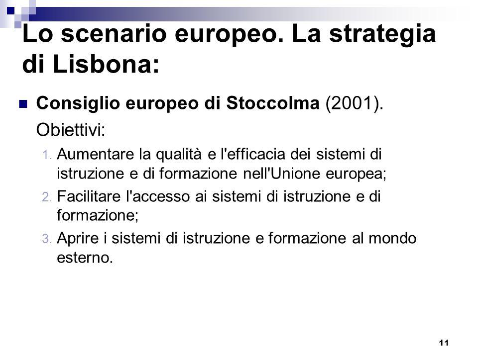 Lo scenario europeo. La strategia di Lisbona: