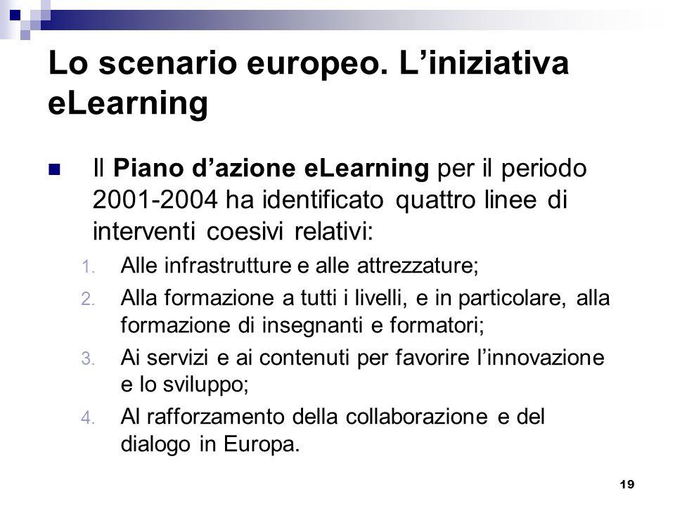 Lo scenario europeo. L'iniziativa eLearning