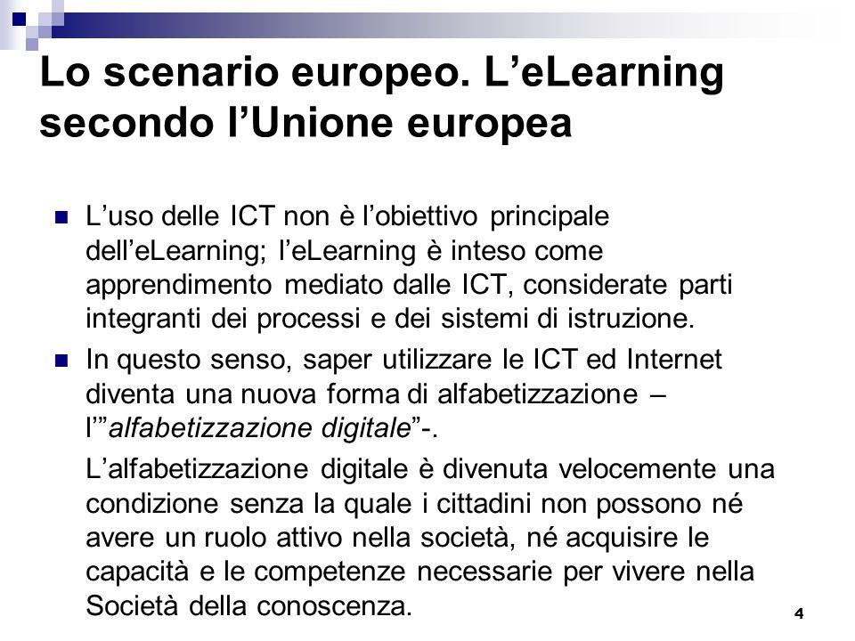 Lo scenario europeo. L'eLearning secondo l'Unione europea