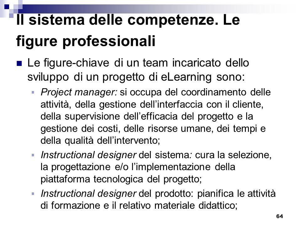 Il sistema delle competenze. Le figure professionali