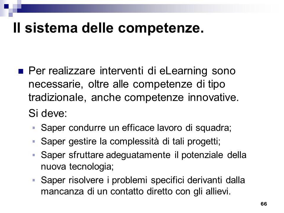 Il sistema delle competenze.