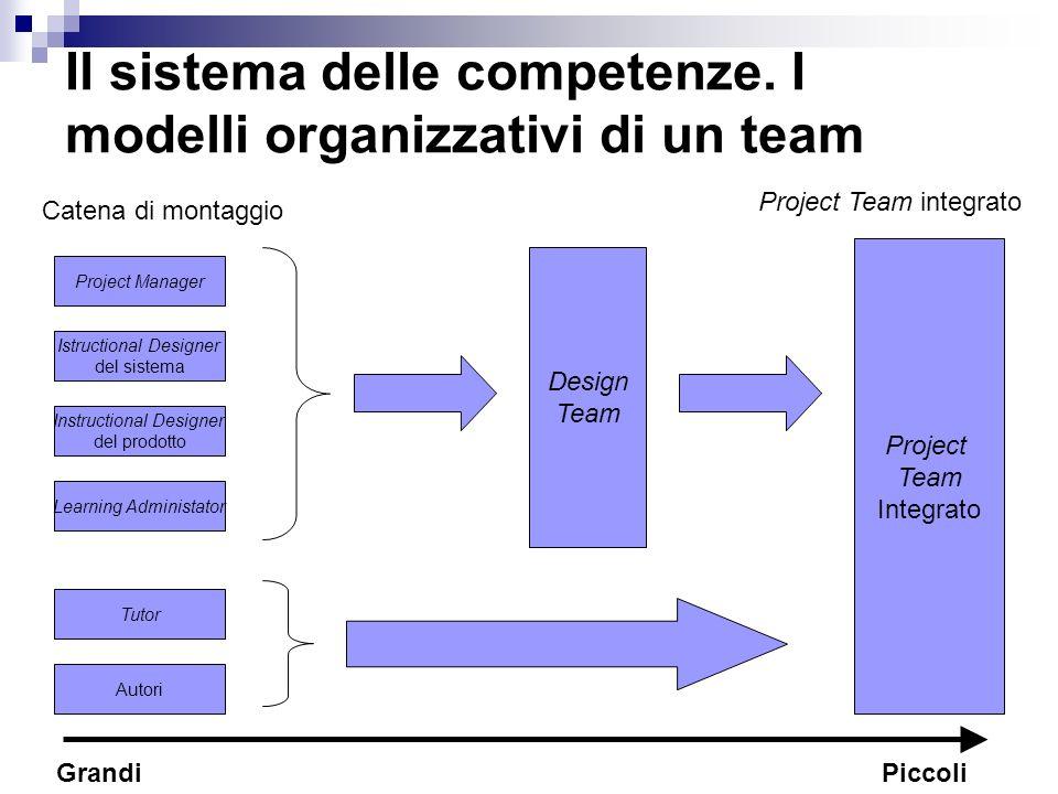 Il sistema delle competenze. I modelli organizzativi di un team