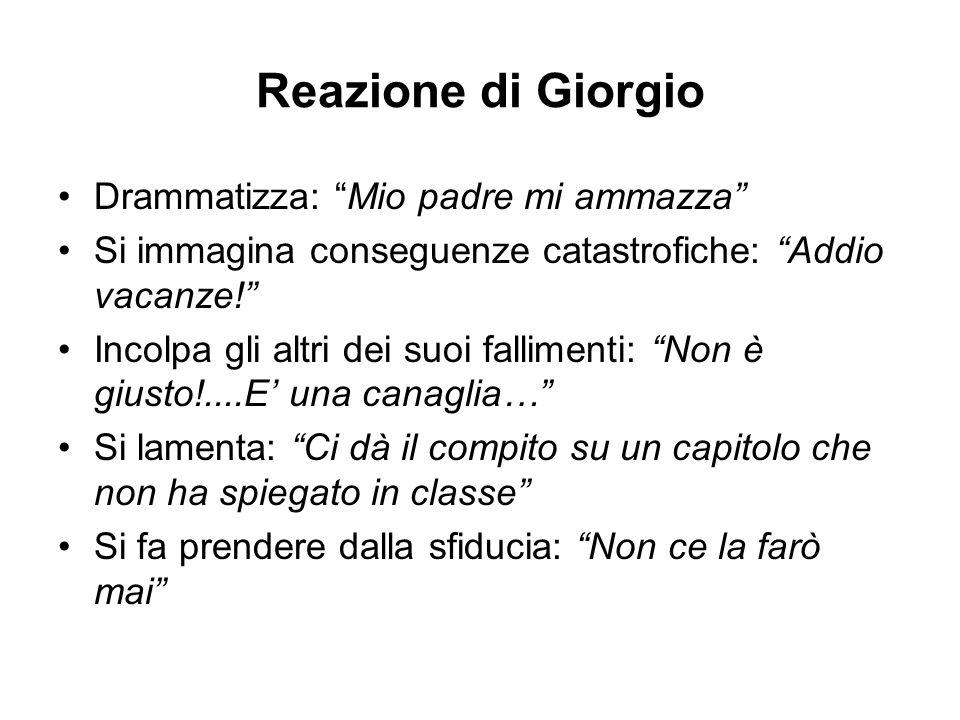 Reazione di Giorgio Drammatizza: Mio padre mi ammazza