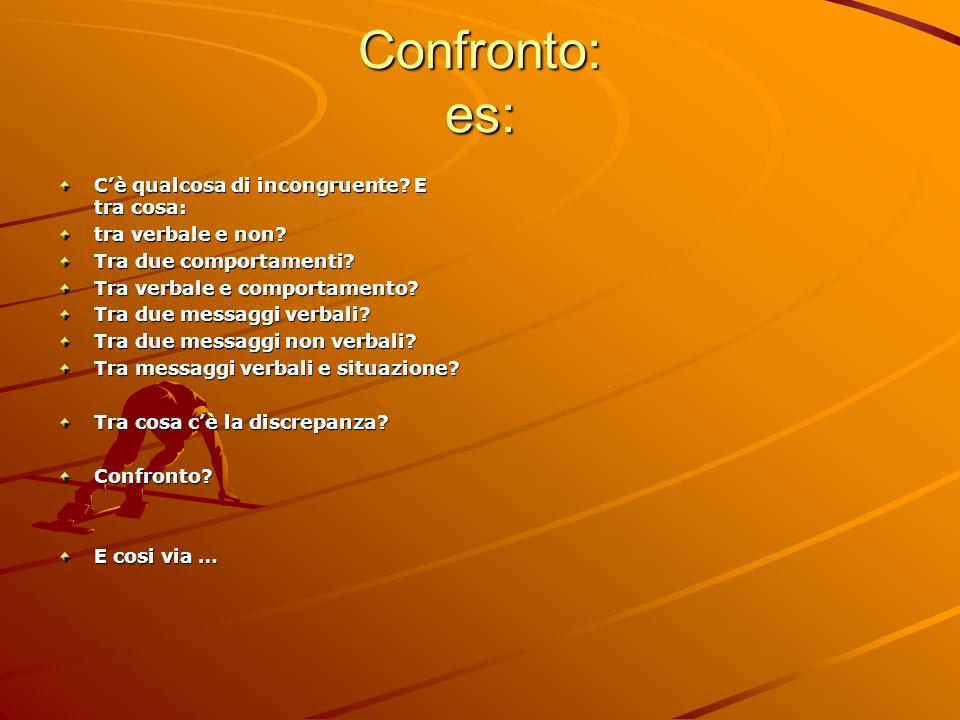 Confronto: es: C'è qualcosa di incongruente E tra cosa: