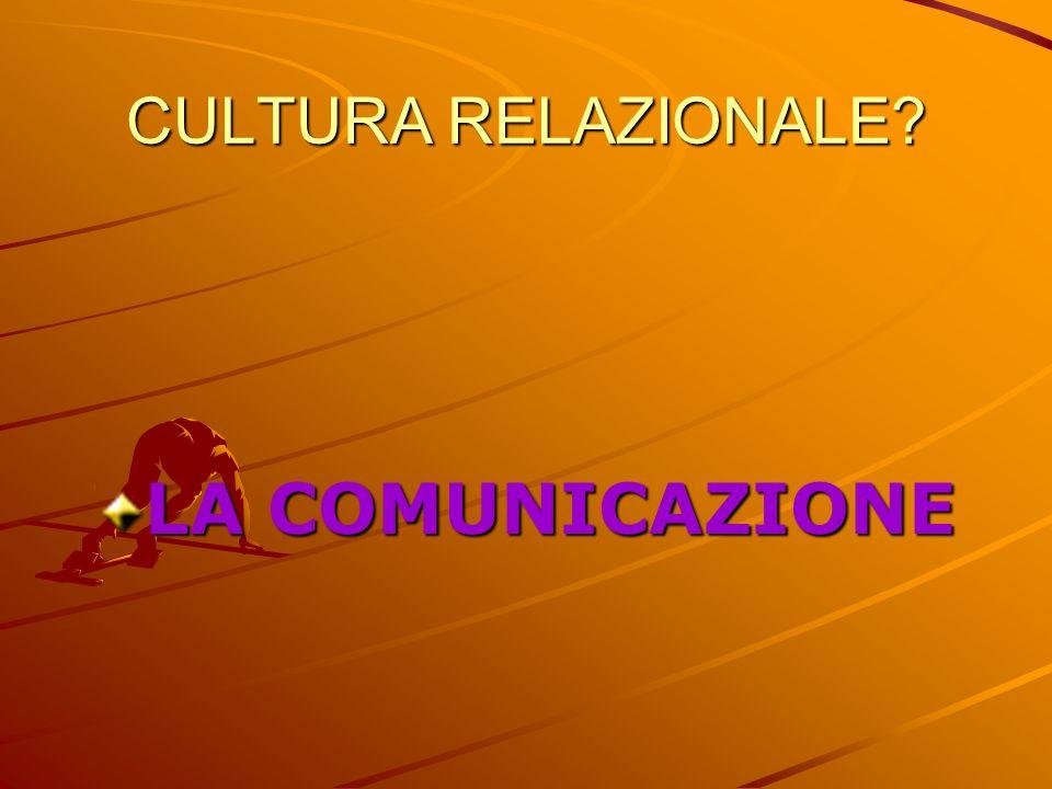 CULTURA RELAZIONALE LA COMUNICAZIONE