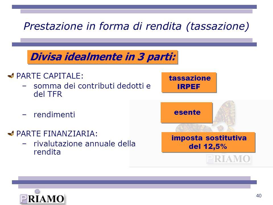 Prestazione in forma di rendita (tassazione)