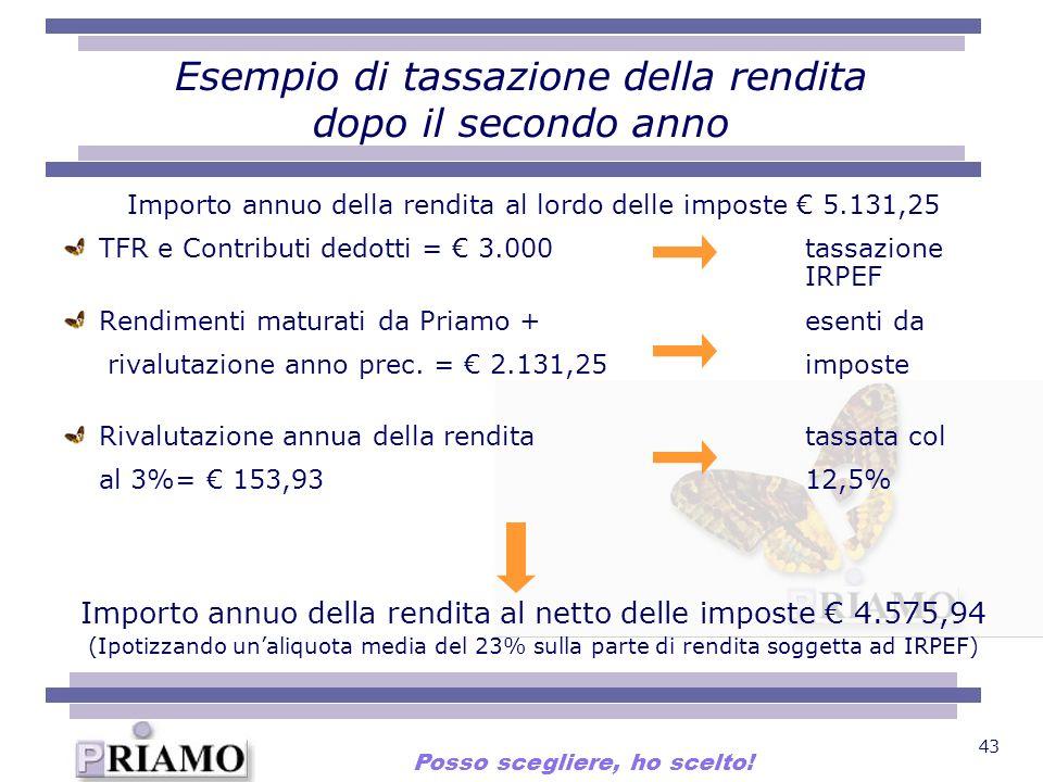 Esempio di tassazione della rendita dopo il secondo anno