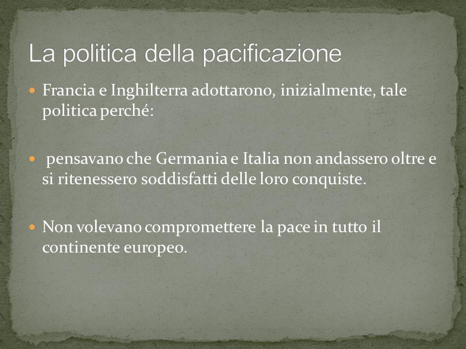 La politica della pacificazione