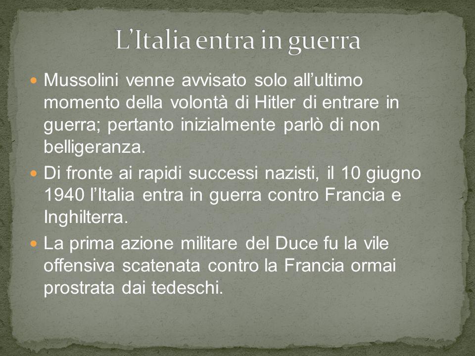 L'Italia entra in guerra