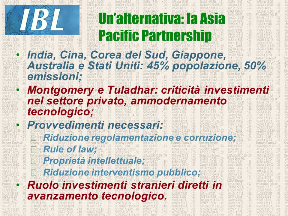Un'alternativa: la Asia Pacific Partnership
