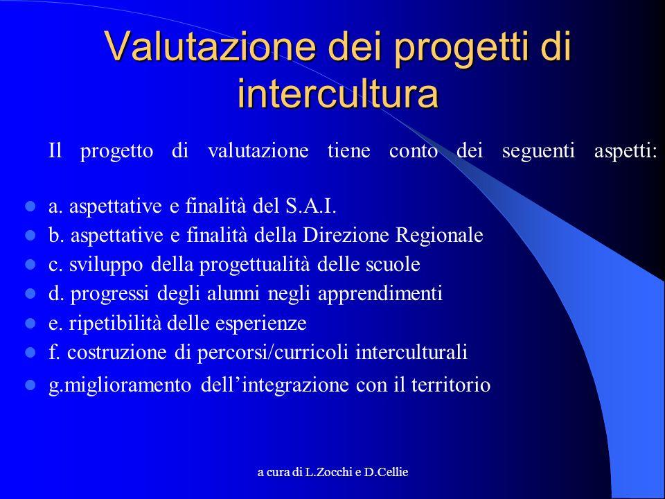 Valutazione dei progetti di intercultura