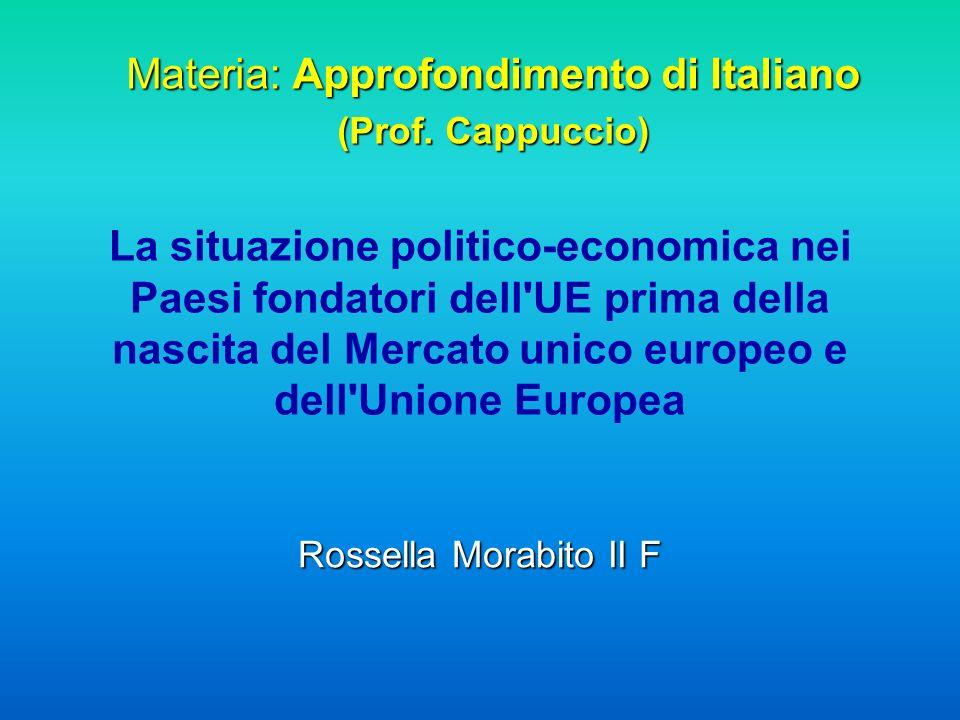 Materia: Approfondimento di Italiano