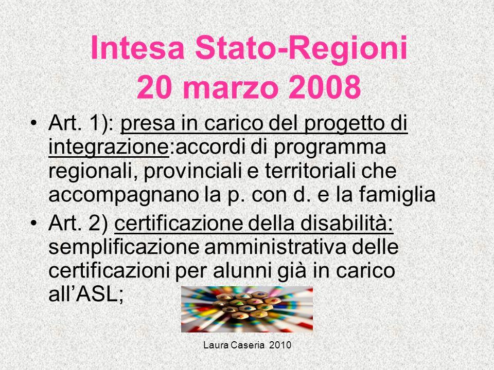 Intesa Stato-Regioni 20 marzo 2008