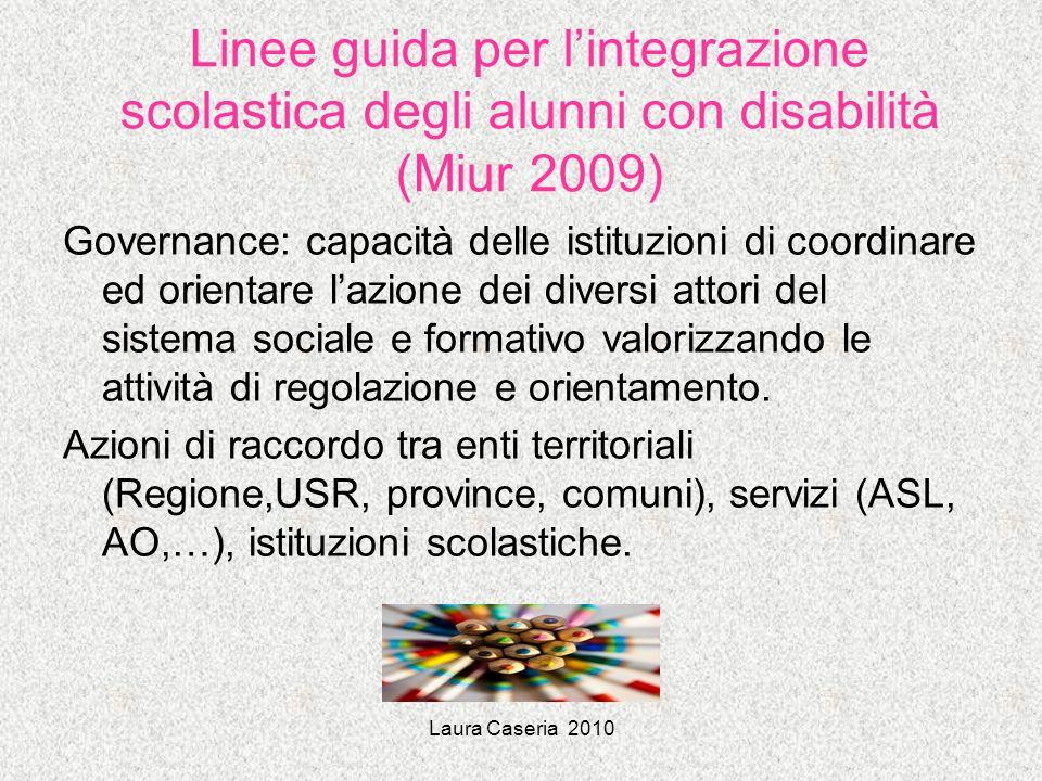 Linee guida per l'integrazione scolastica degli alunni con disabilità (Miur 2009)