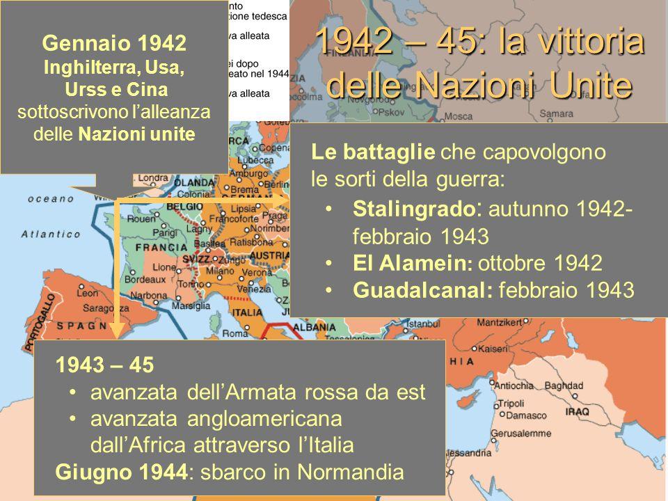 1942 – 45: la vittoria delle Nazioni Unite