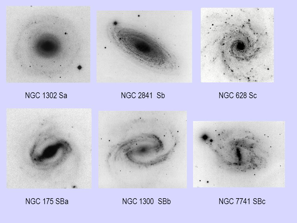 NGC 1302 Sa NGC 2841 Sb NGC 628 Sc
