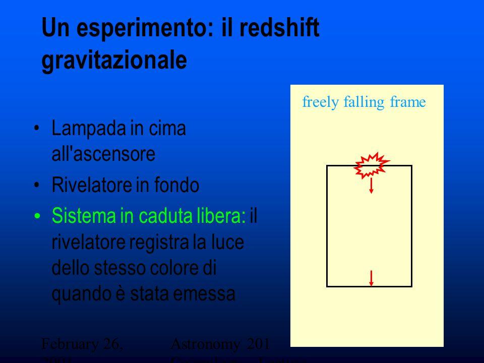 Un esperimento: il redshift gravitazionale