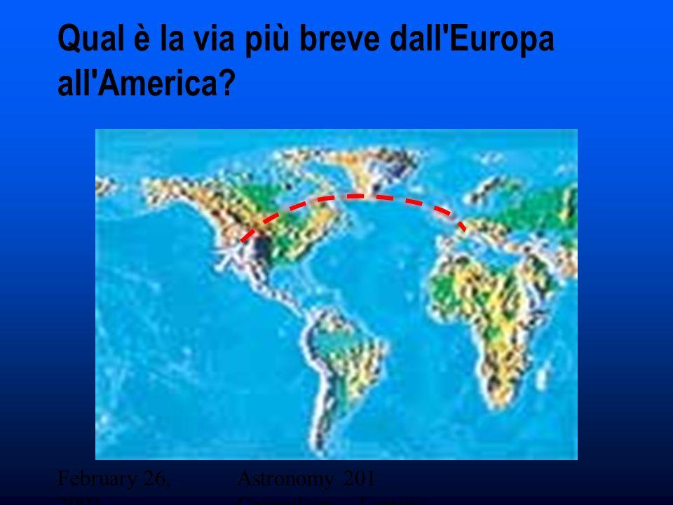 Qual è la via più breve dall Europa all America