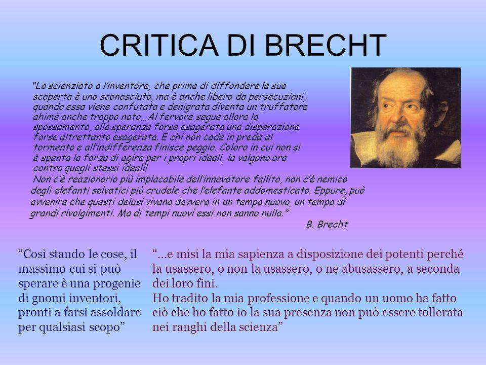 CRITICA DI BRECHT