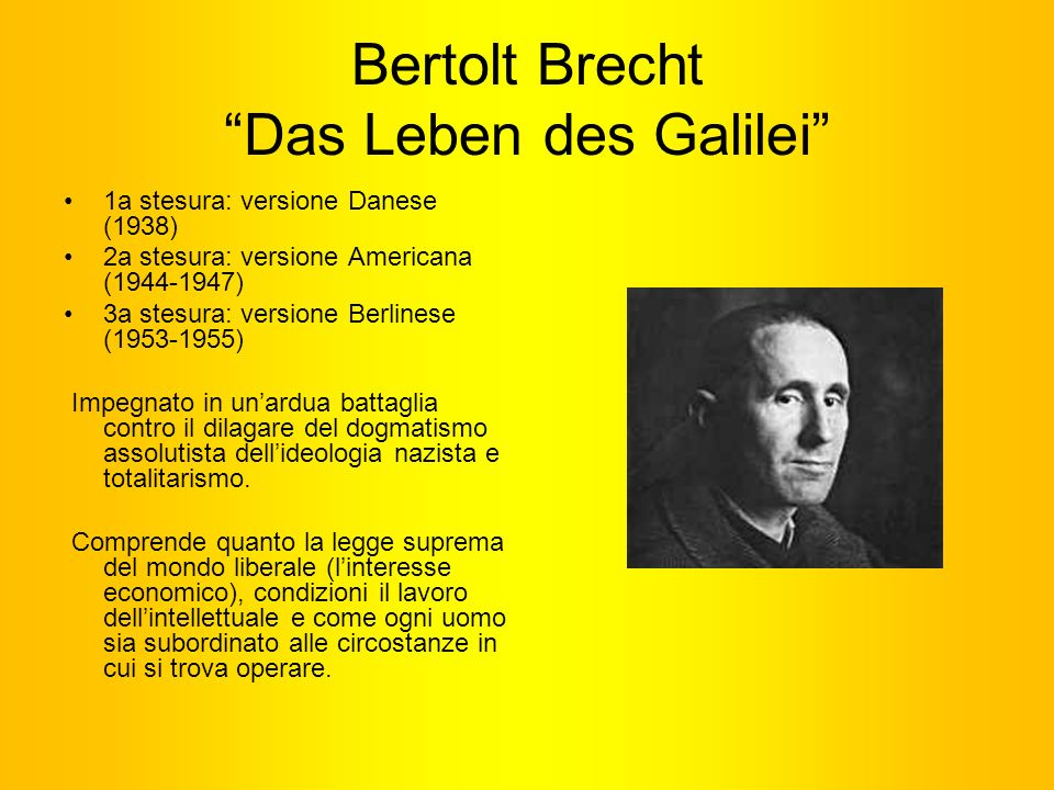 Bertolt Brecht Das Leben des Galilei