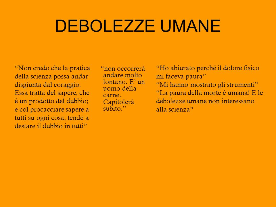 DEBOLEZZE UMANE
