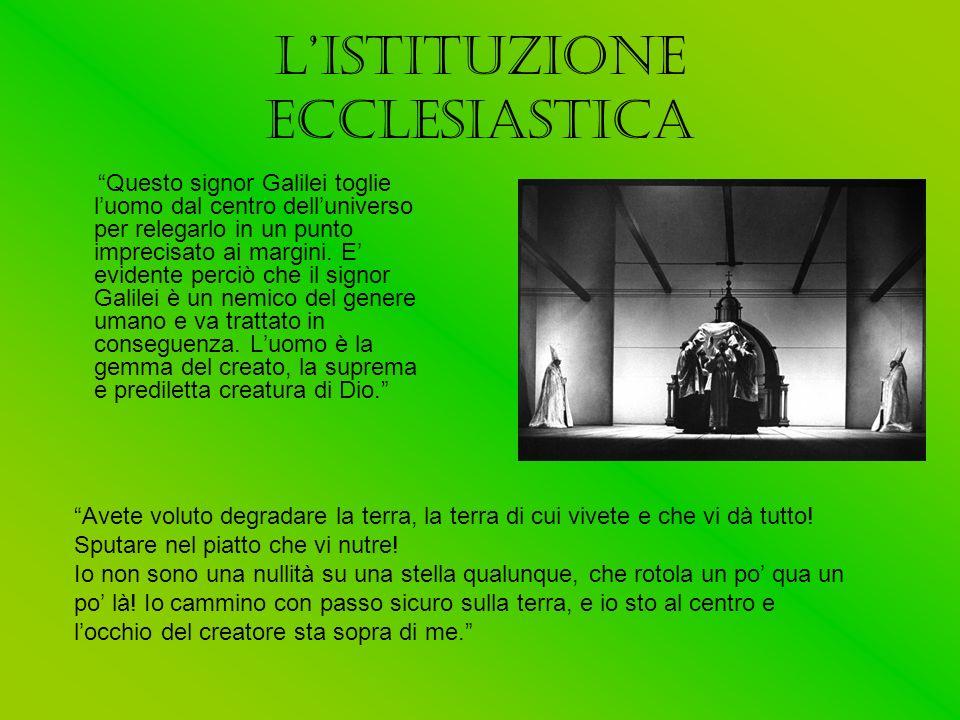 L'ISTITUZIONE ECCLESIASTICA