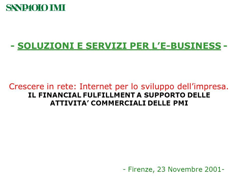 - SOLUZIONI E SERVIZI PER L'E-BUSINESS -