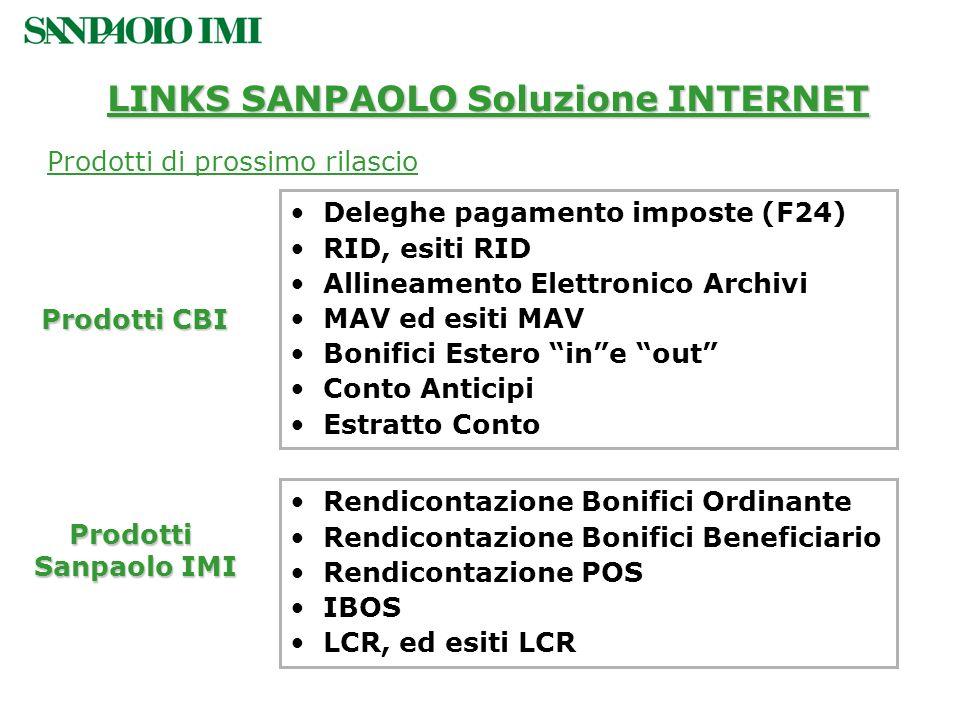 LINKS SANPAOLO Soluzione INTERNET