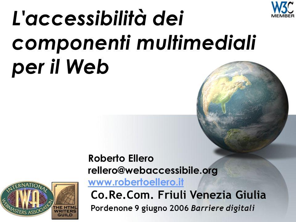 L accessibilità dei componenti multimediali per il Web