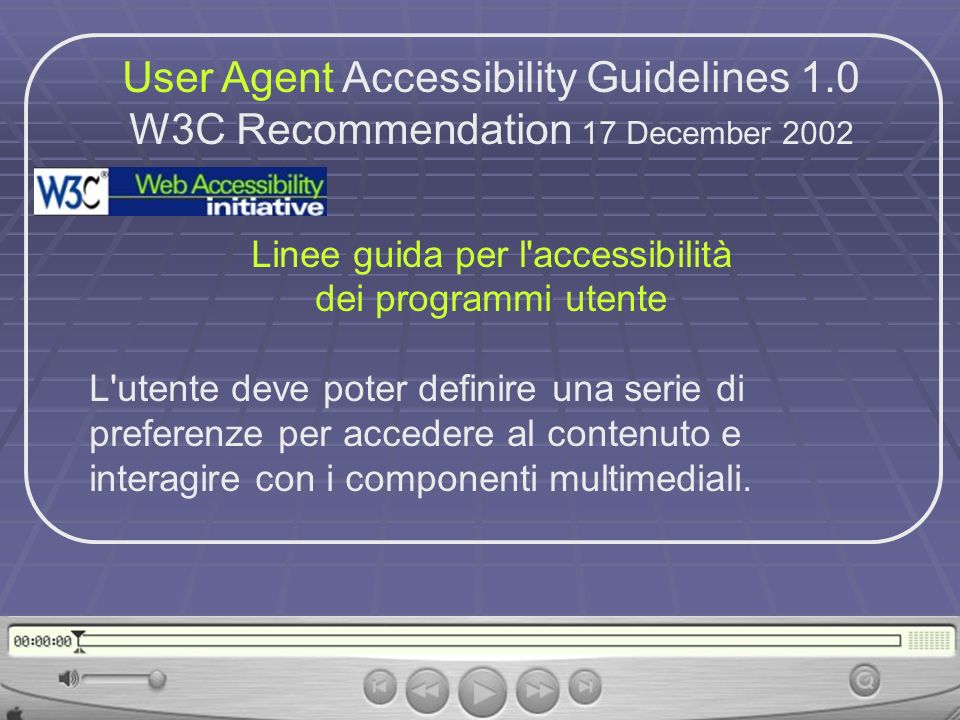 User Agent Accessibility Guidelines 1.0