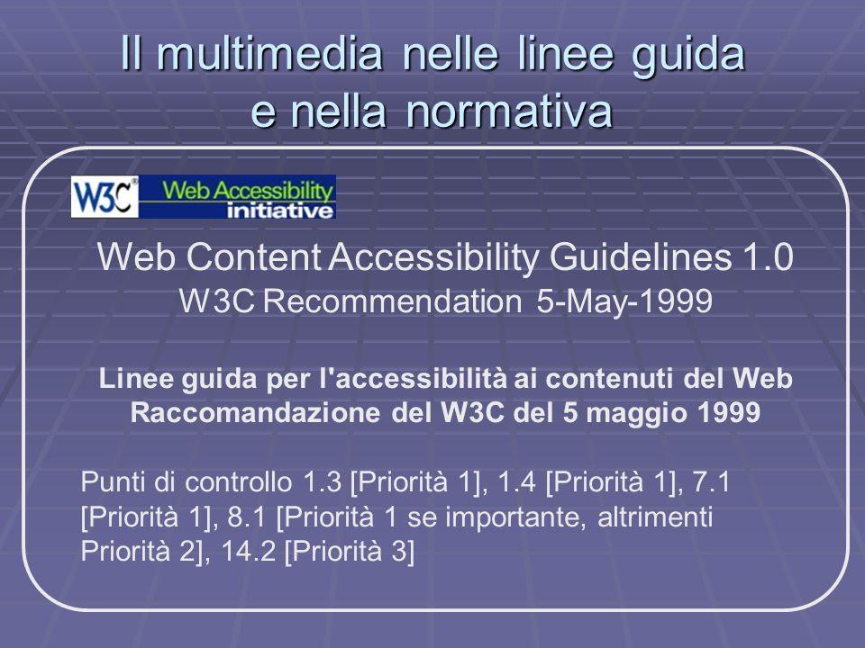 Il multimedia nelle linee guida e nella normativa