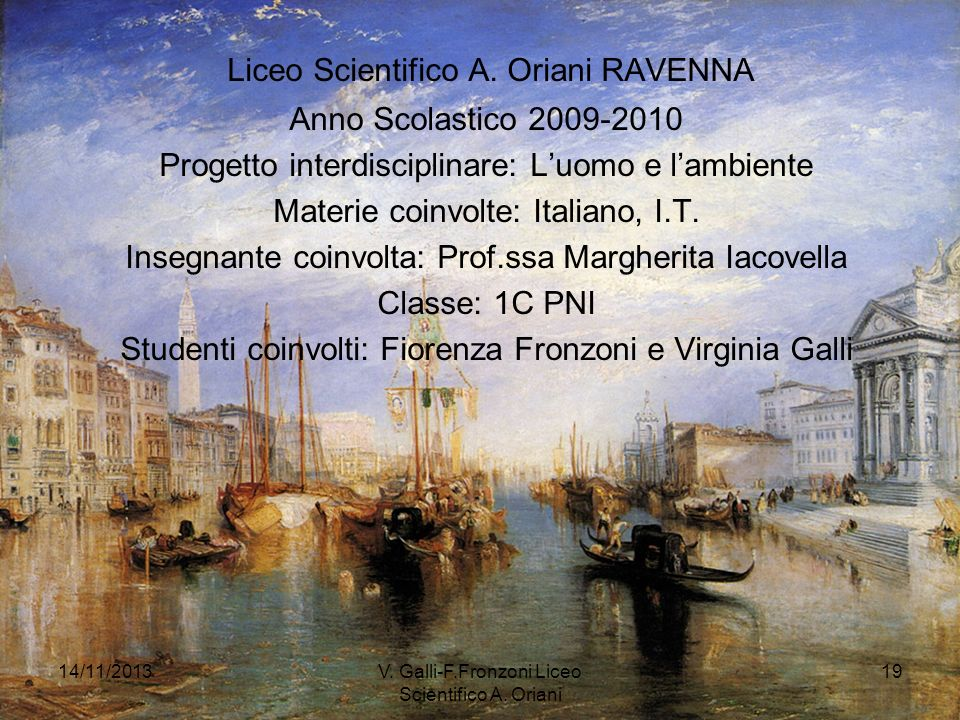 Liceo Scientifico A. Oriani RAVENNA