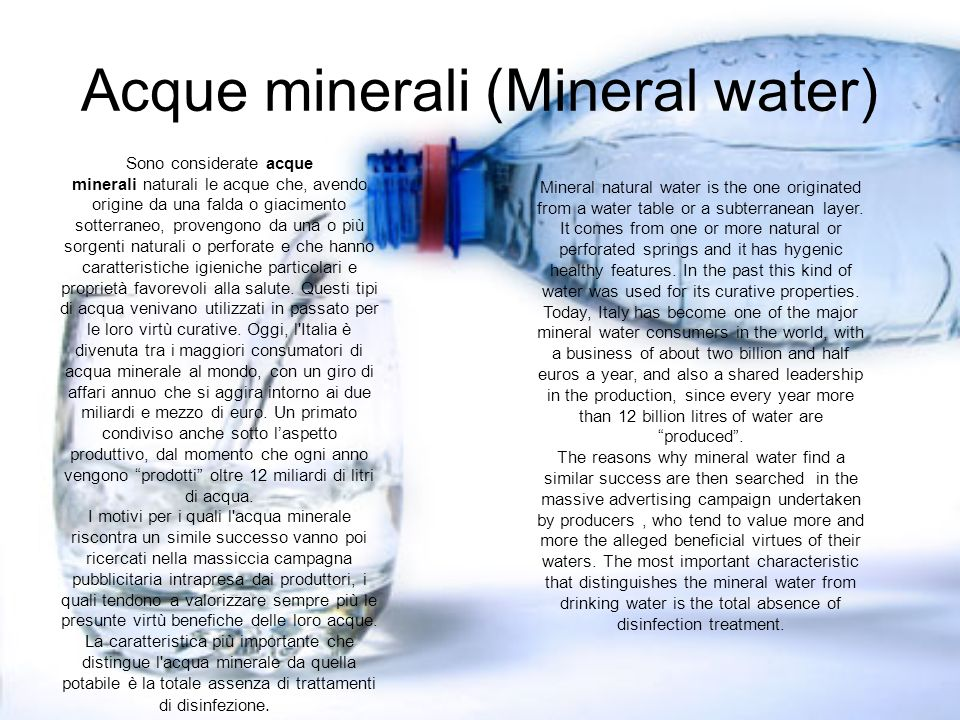 Acque minerali (Mineral water)
