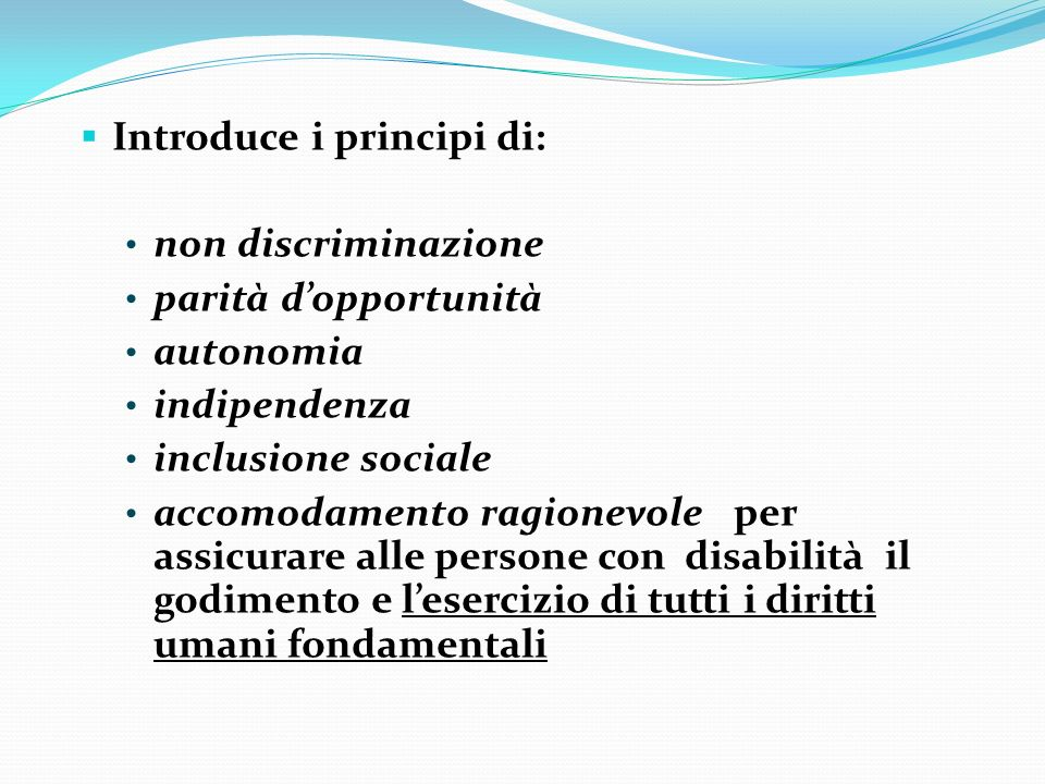 Introduce i principi di: