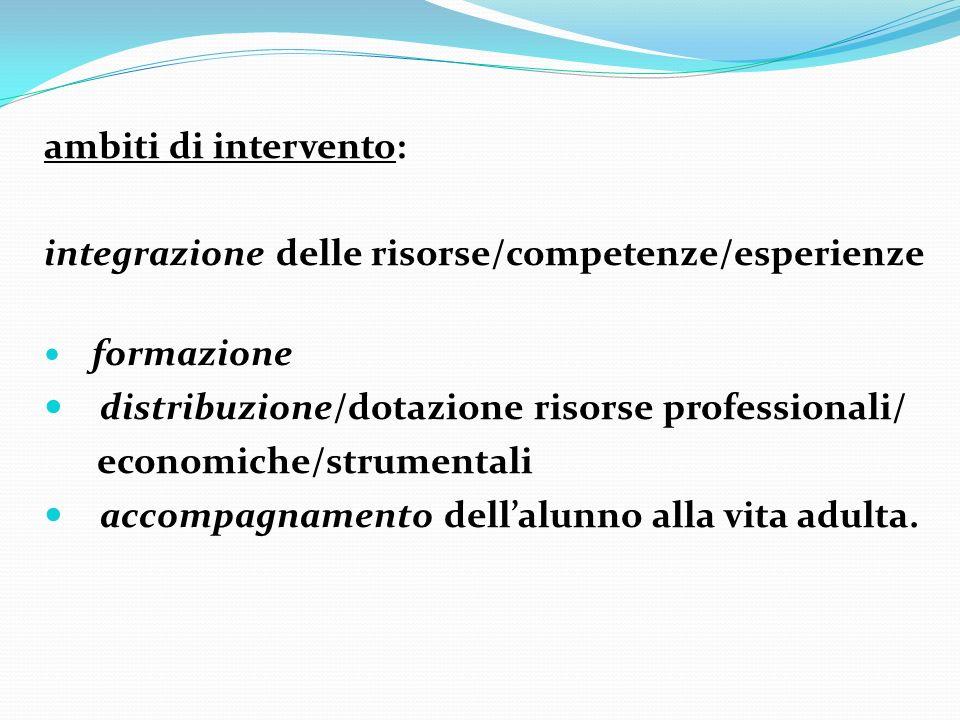 integrazione delle risorse/competenze/esperienze