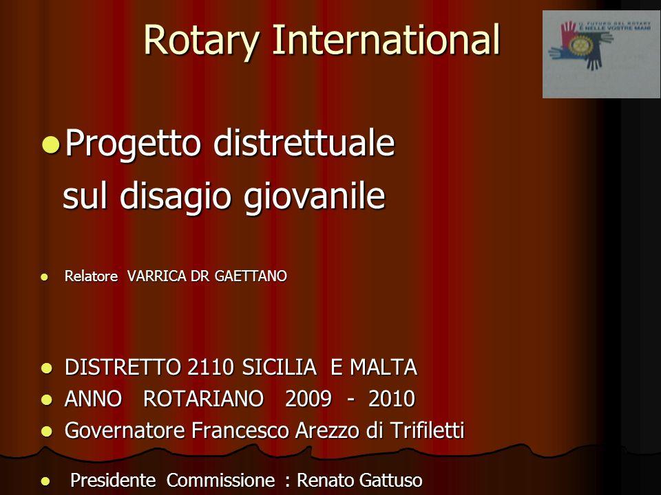 Rotary International Progetto distrettuale sul disagio giovanile