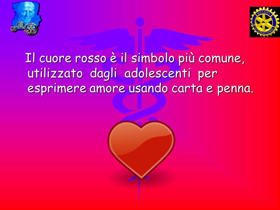 Il cuore rosso è il simbolo più comune, utilizzato dagli adolescenti per esprimere amore usando carta e penna.