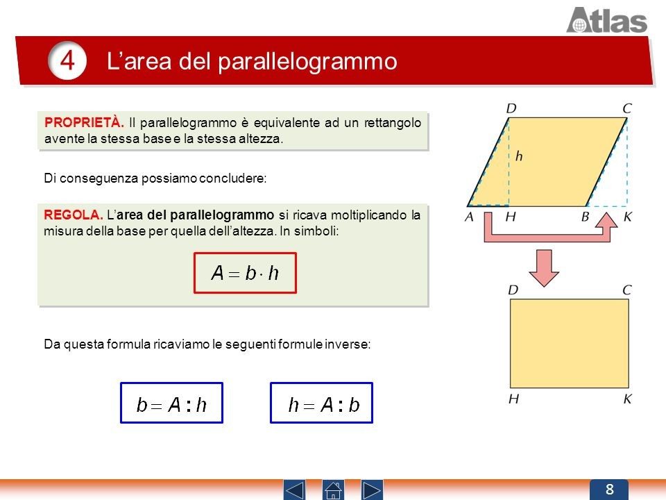 4 L'area del parallelogrammo