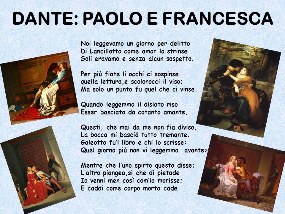 DANTE: PAOLO E FRANCESCA