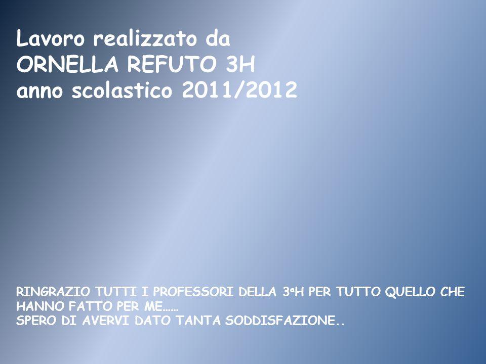Lavoro realizzato da ORNELLA REFUTO 3H anno scolastico 2011/2012