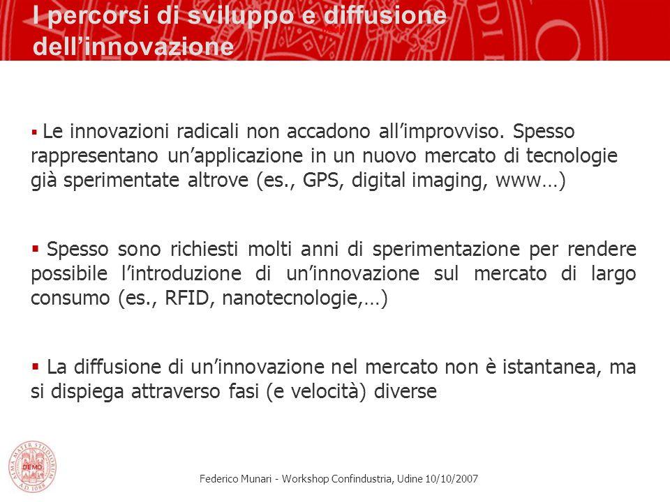 I percorsi di sviluppo e diffusione dell'innovazione